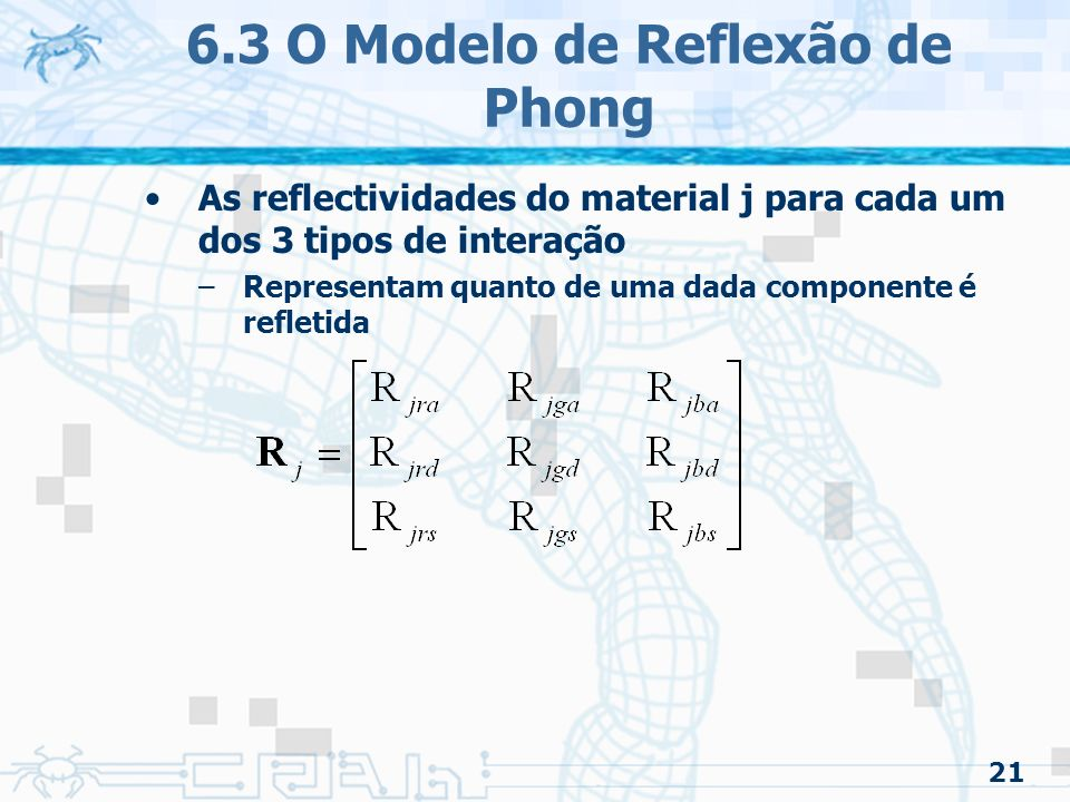 6.3 O Modelo de Reflexão de Phong
