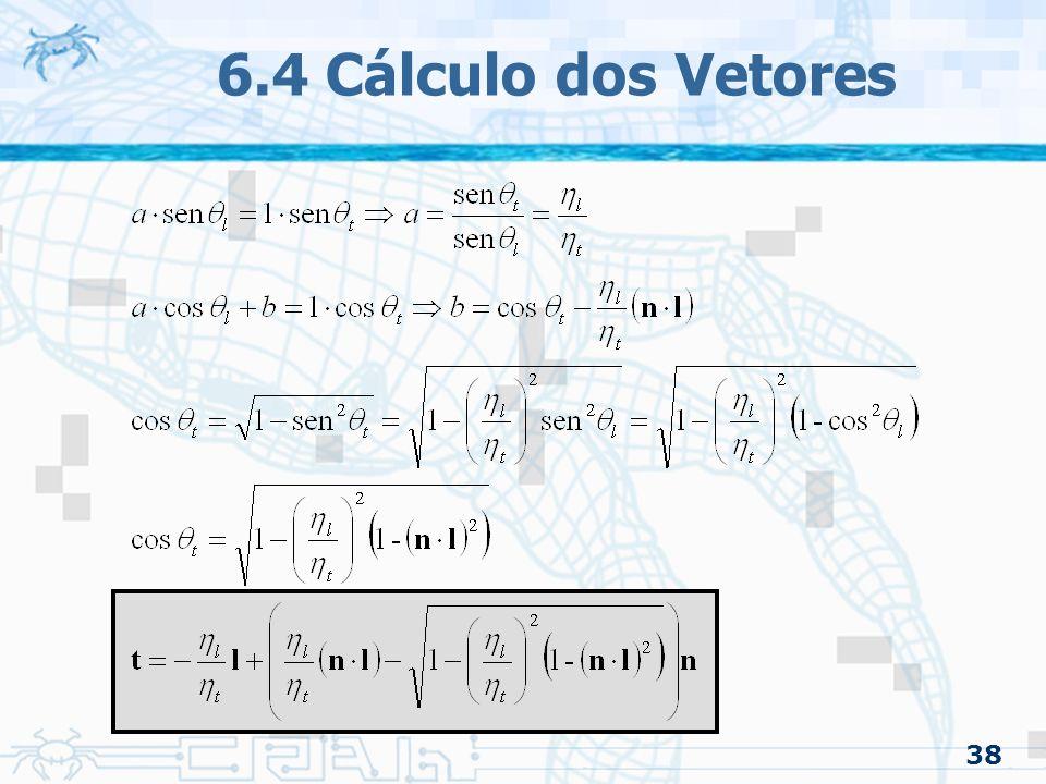 6.4 Cálculo dos Vetores