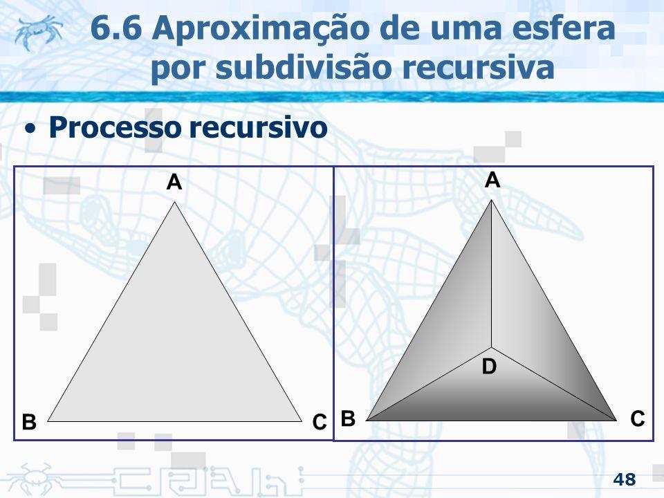 6.6 Aproximação de uma esfera por subdivisão recursiva