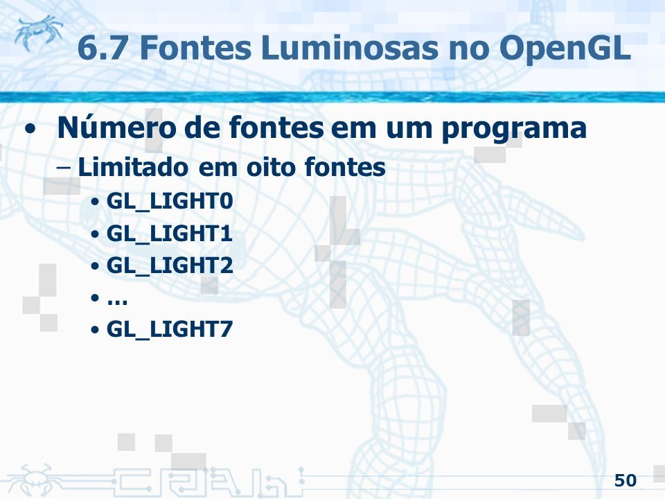 6.7 Fontes Luminosas no OpenGL