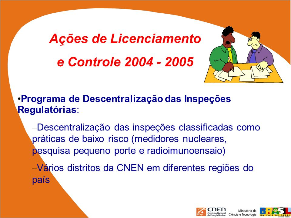 Ações de Licenciamento
