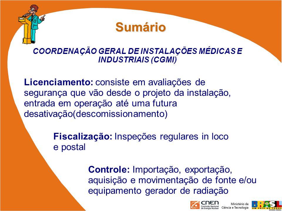 COORDENAÇÃO GERAL DE INSTALAÇÕES MÉDICAS E INDUSTRIAIS (CGMI)