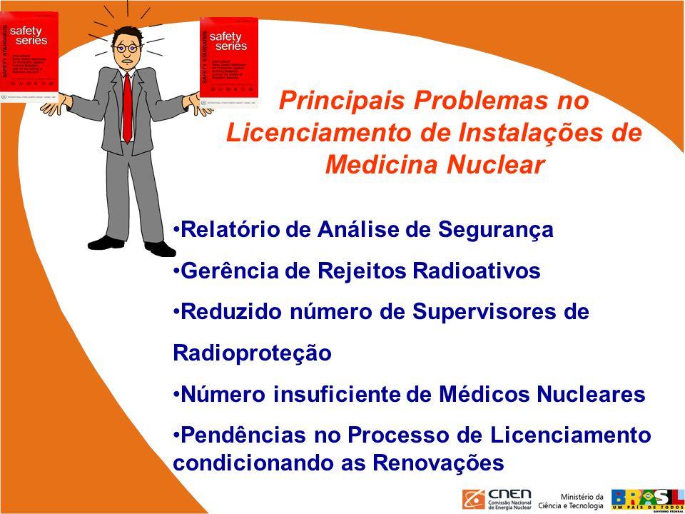 Principais Problemas no Licenciamento de Instalações de Medicina Nuclear