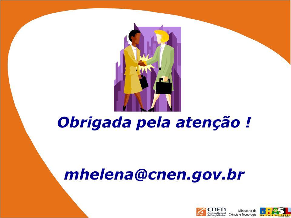 Obrigada pela atenção ! mhelena@cnen.gov.br