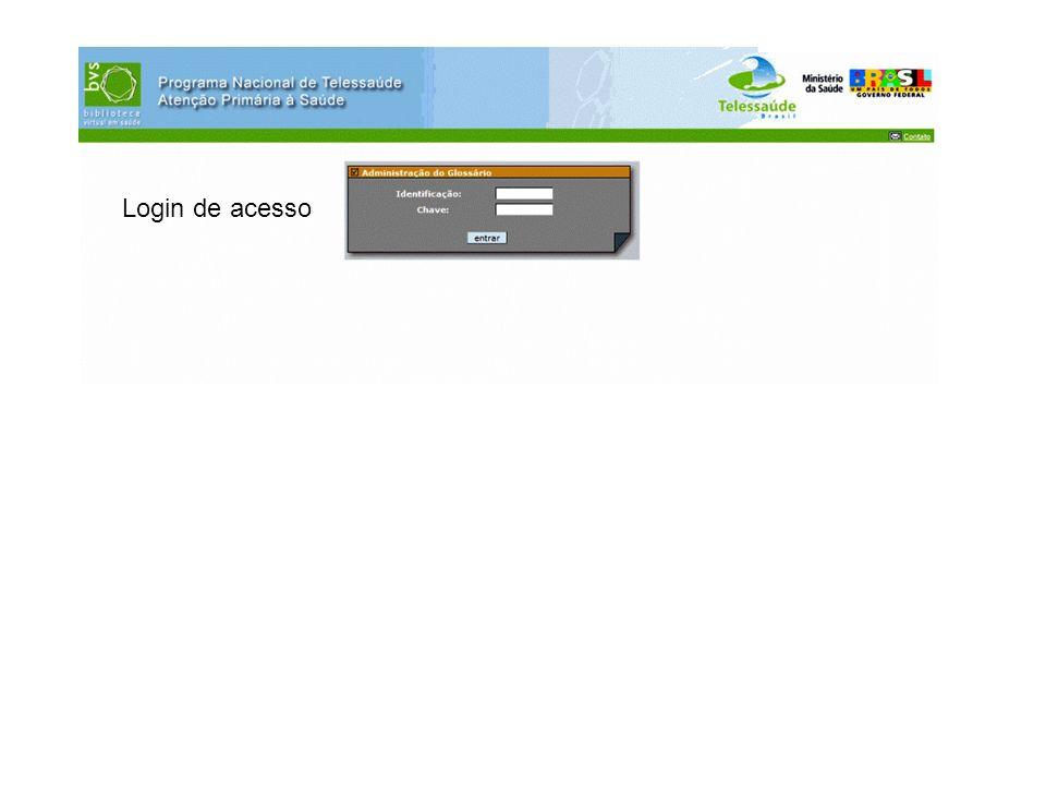 Login de acesso