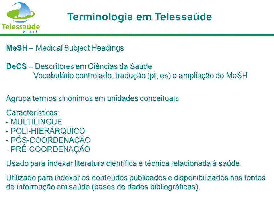 Terminologia em Telessaúde