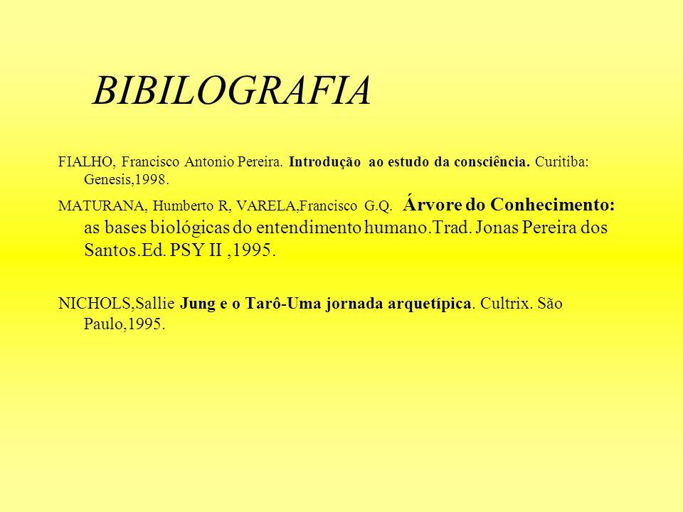 BIBILOGRAFIA FIALHO, Francisco Antonio Pereira. Introdução ao estudo da consciência. Curitiba: Genesis,1998.