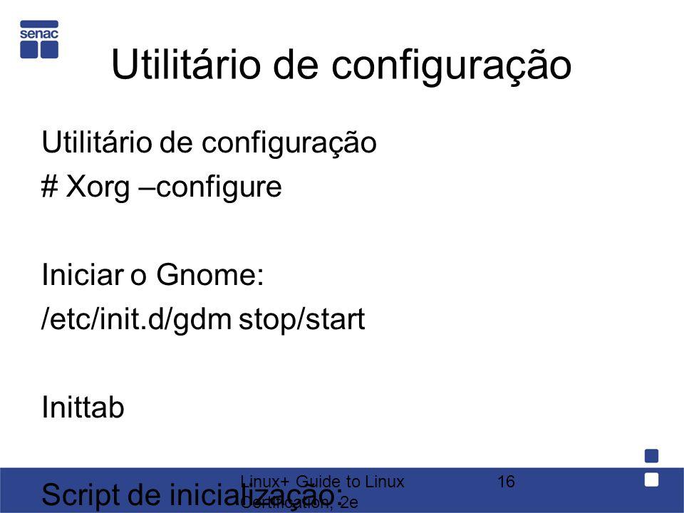 Utilitário de configuração