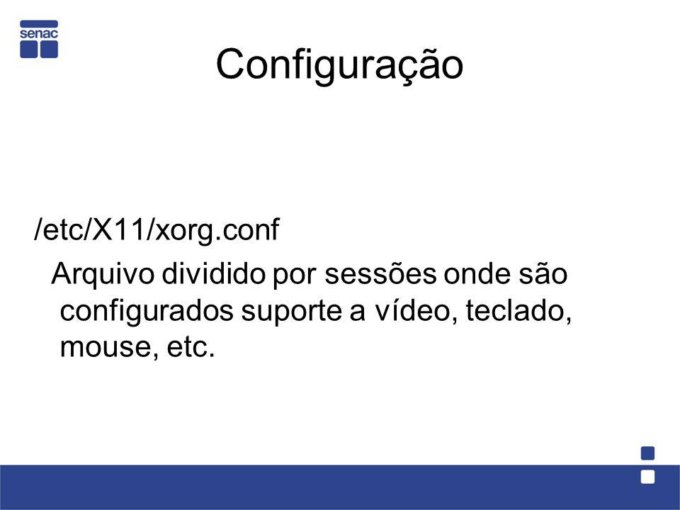 Configuração /etc/X11/xorg.conf