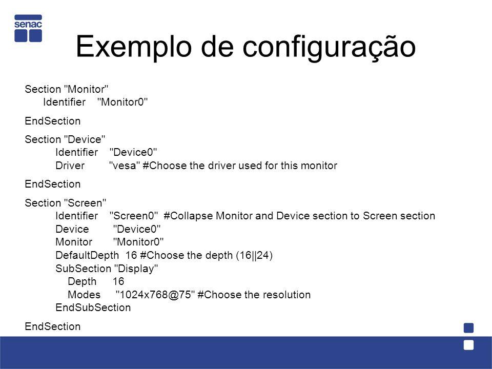 Exemplo de configuração
