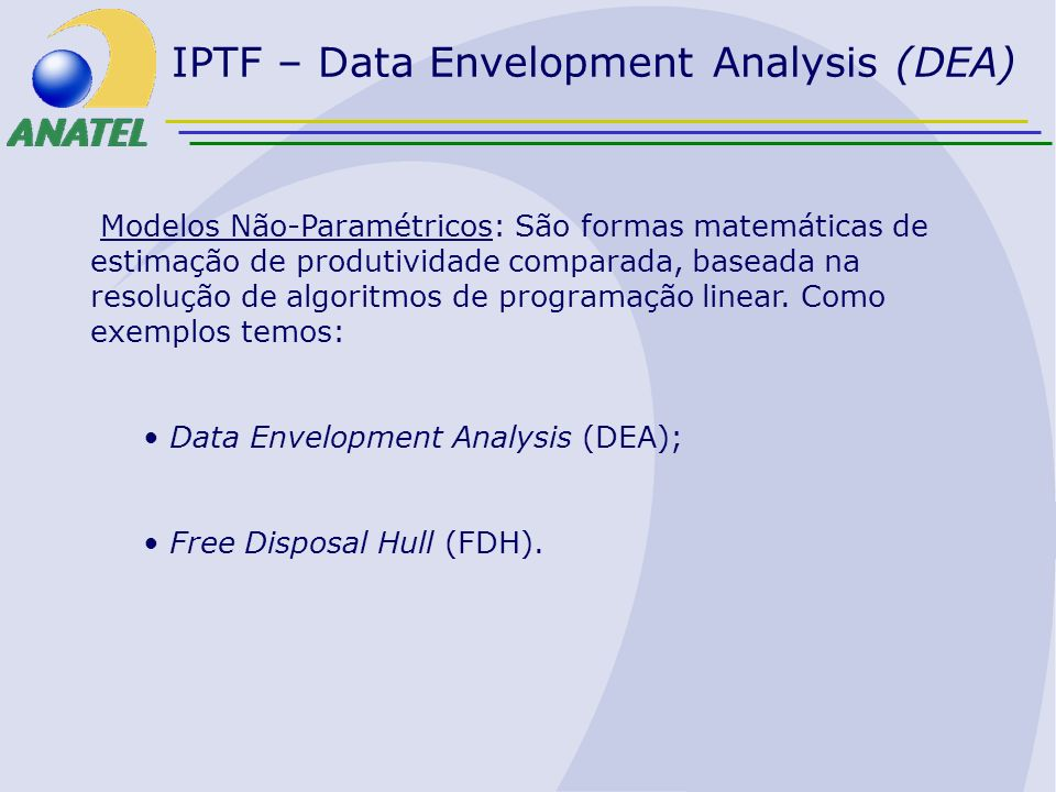 IPTF – Data Envelopment Analysis (DEA)