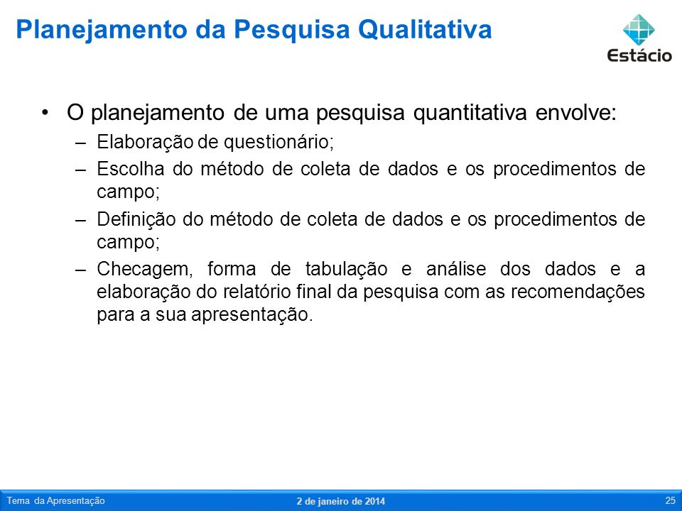 Planejamento da Pesquisa Qualitativa