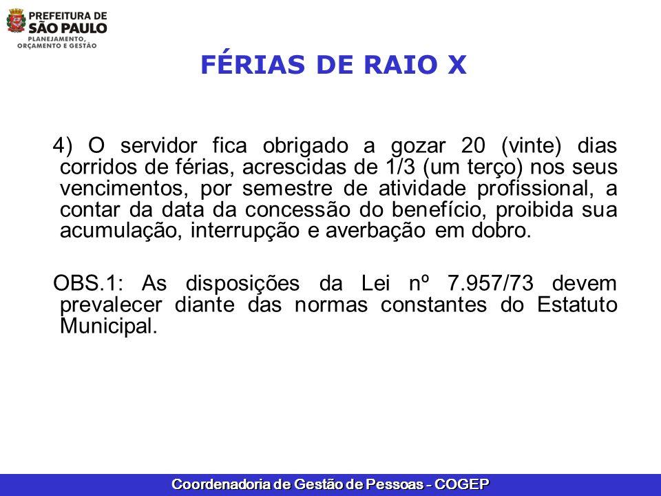 FÉRIAS DE RAIO X