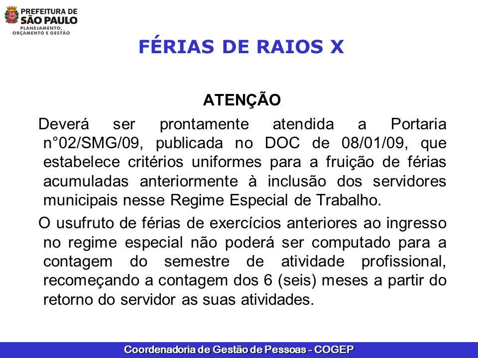 FÉRIAS DE RAIOS X ATENÇÃO