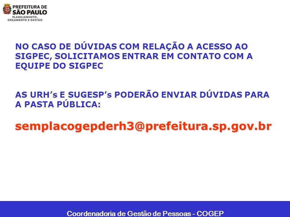 Coordenadoria de Gestão de Pessoas - COGEP