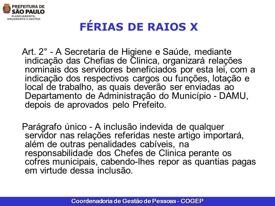 FÉRIAS DE RAIOS X
