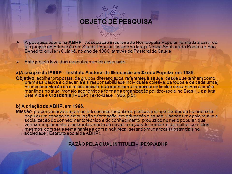 RAZÃO PELA QUAL INTITULEI – IPESP/ABHP