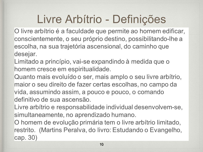 Livre Arbítrio - Definições