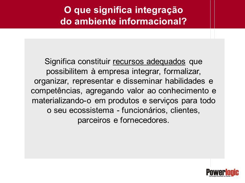 O que significa integração do ambiente informacional