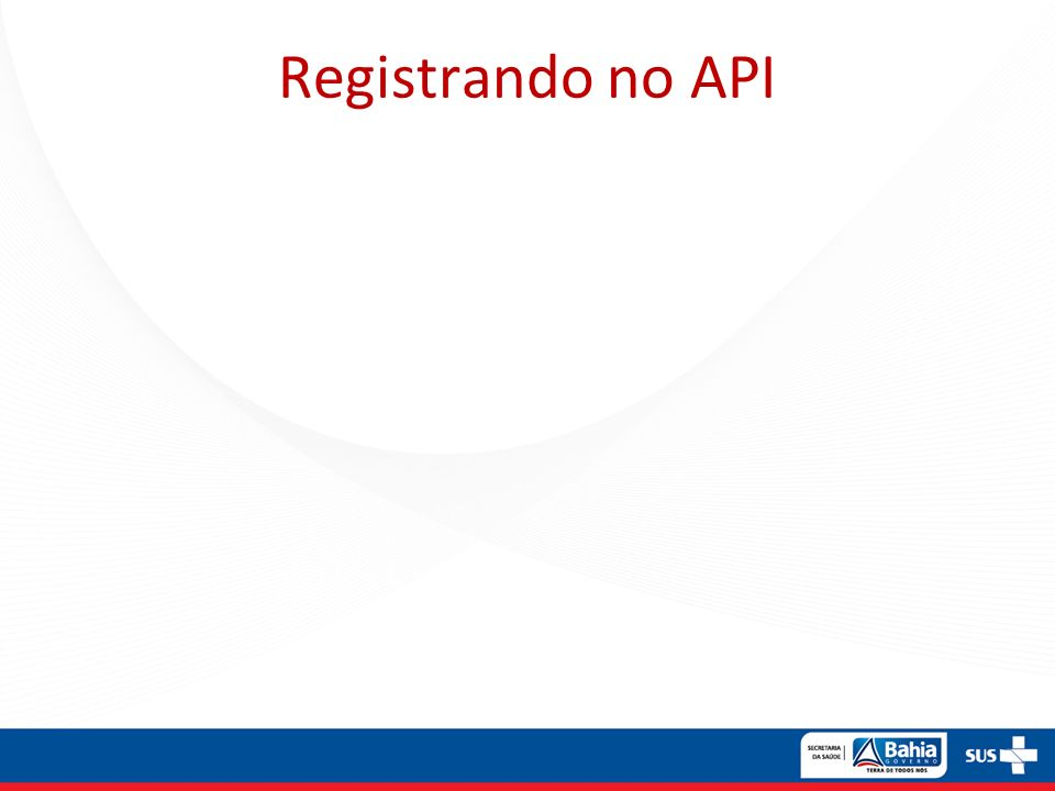 Registrando no API