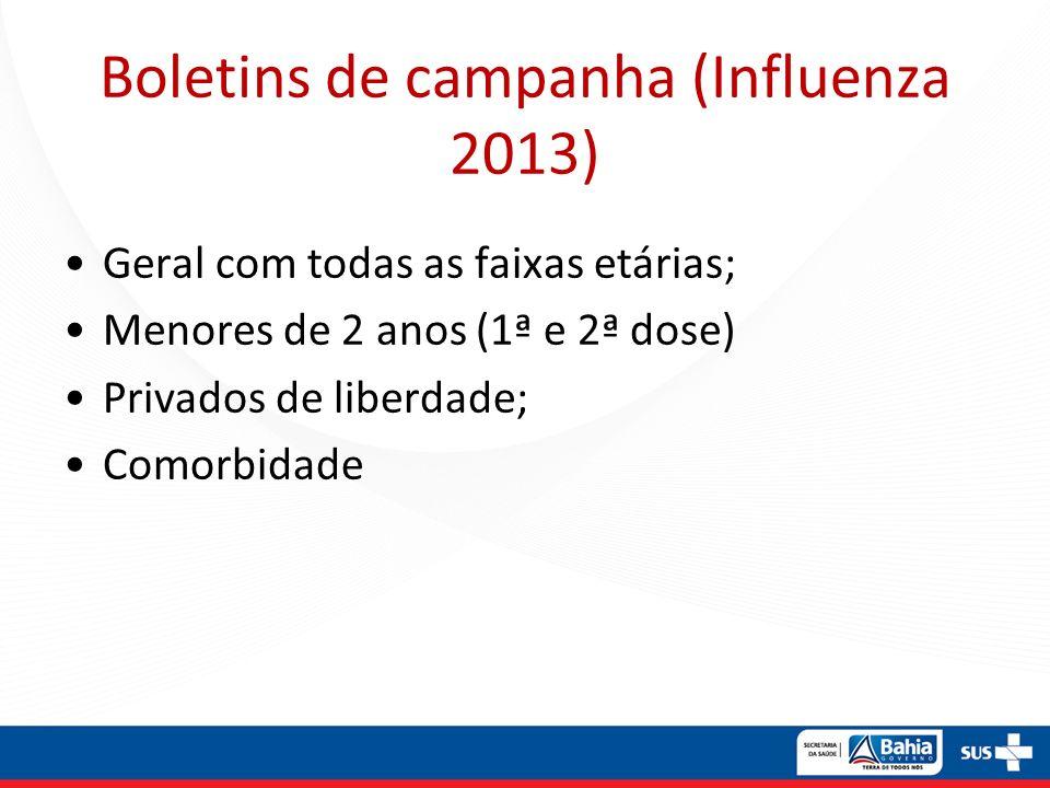 Boletins de campanha (Influenza 2013)