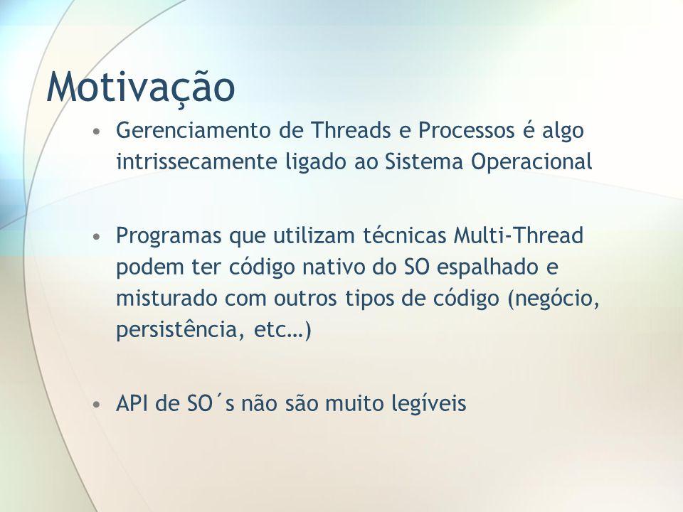 Motivação Gerenciamento de Threads e Processos é algo intrissecamente ligado ao Sistema Operacional.