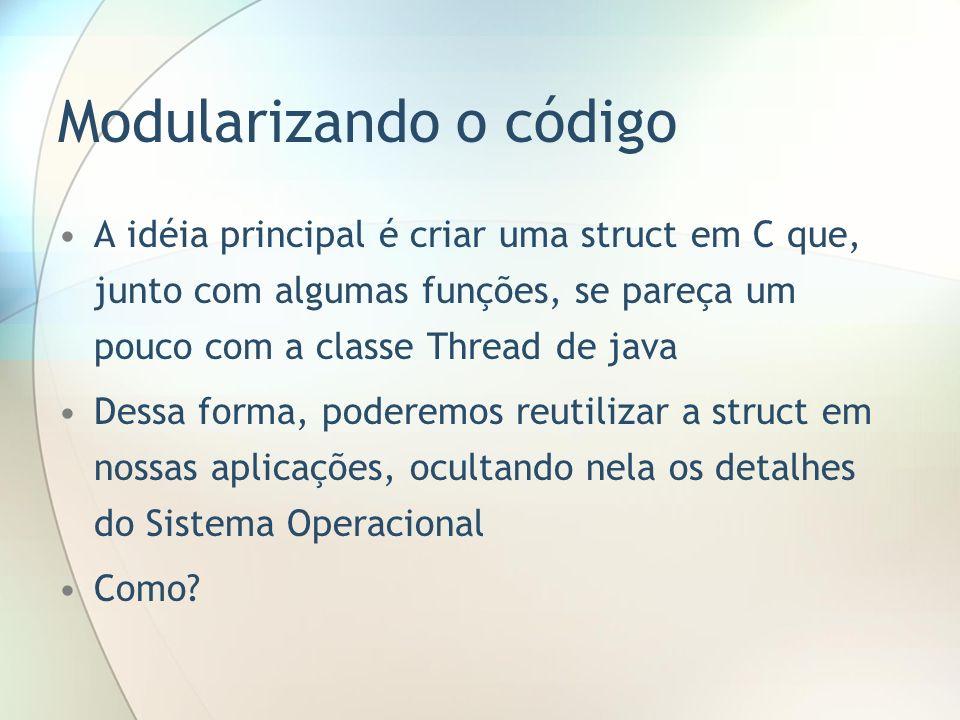 Modularizando o código