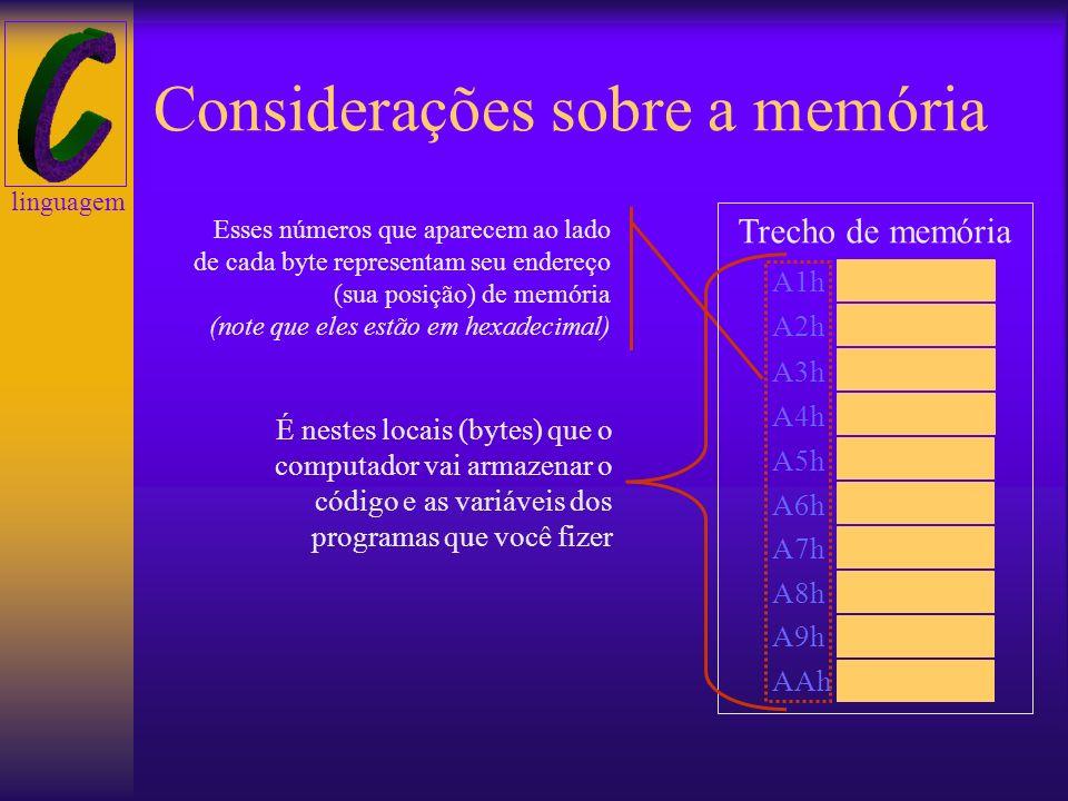 Considerações sobre a memória