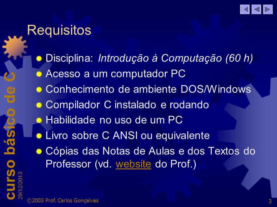 Requisitos Disciplina: Introdução à Computação (60 h)