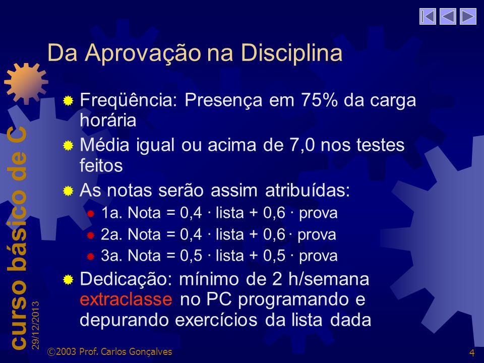 Da Aprovação na Disciplina