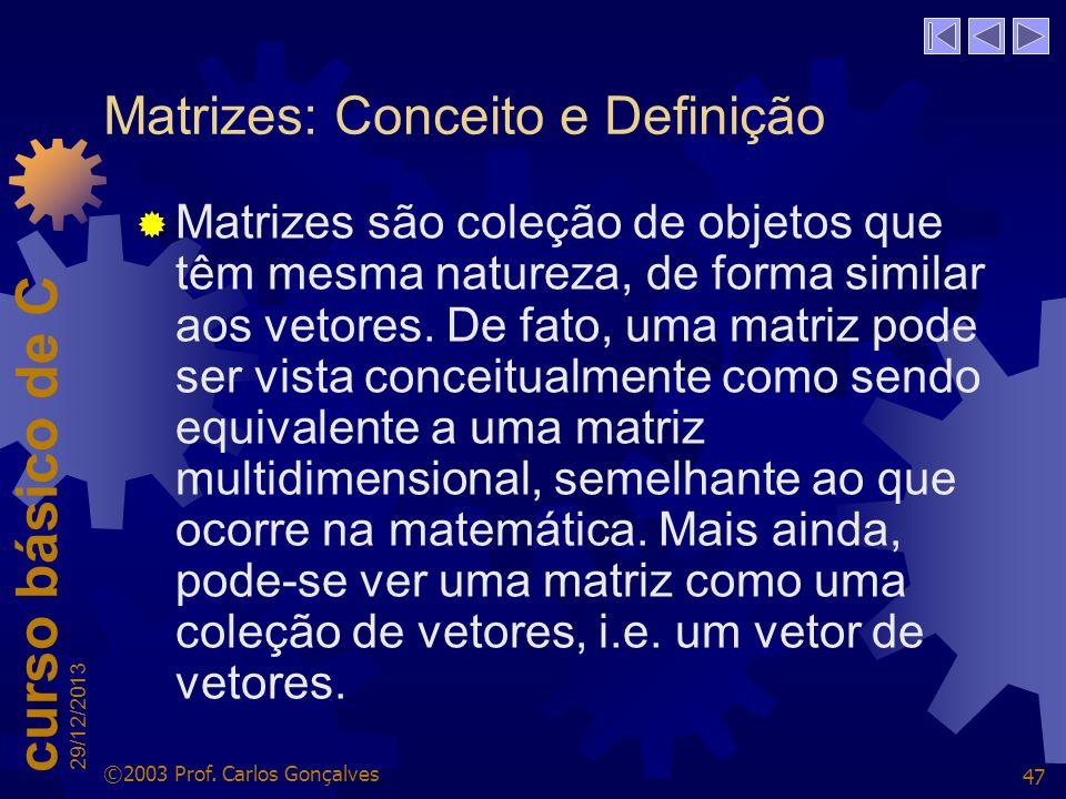 Matrizes: Conceito e Definição