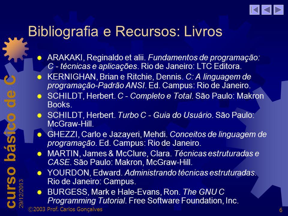 Bibliografia e Recursos: Livros
