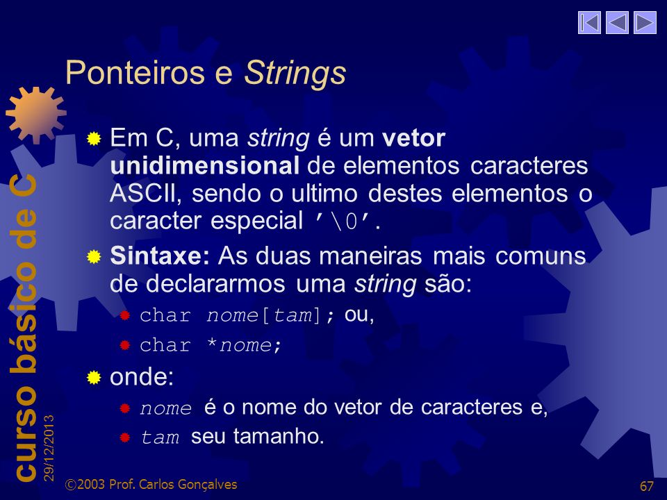 Ponteiros e Strings