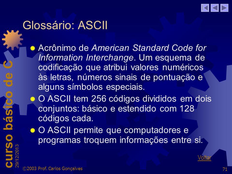 Glossário: ASCII