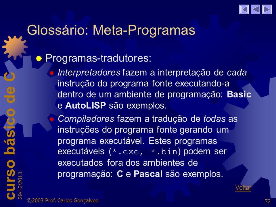 Glossário: Meta-Programas