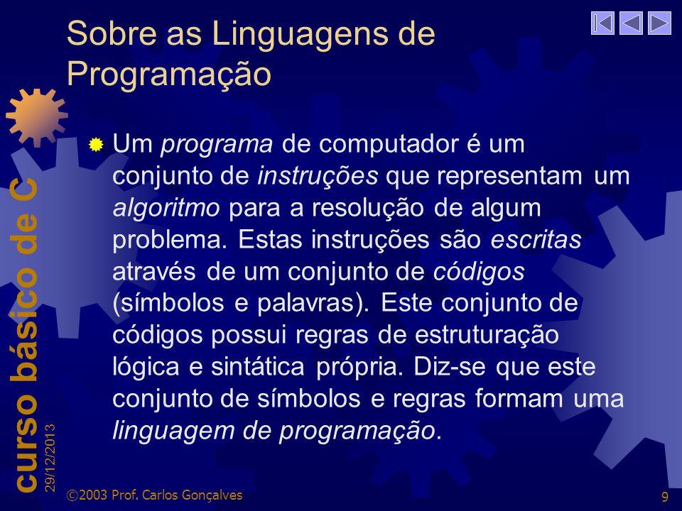 Sobre as Linguagens de Programação