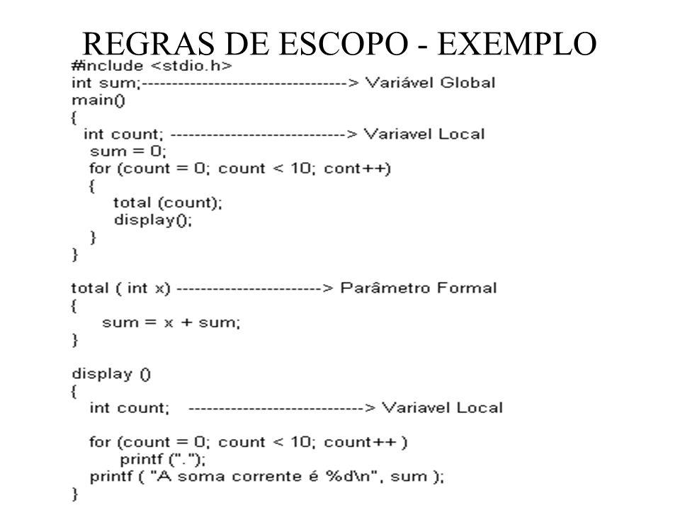 REGRAS DE ESCOPO - EXEMPLO