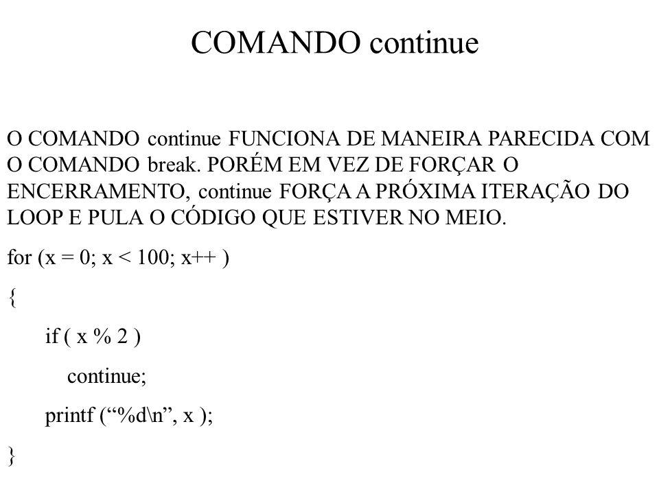 COMANDO continue