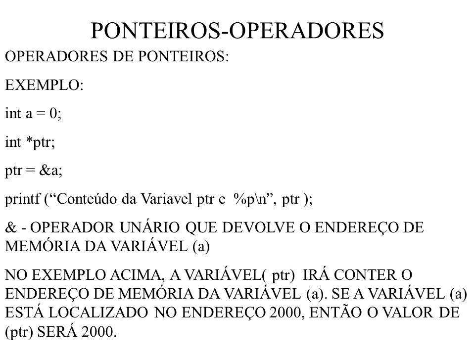 PONTEIROS-OPERADORES