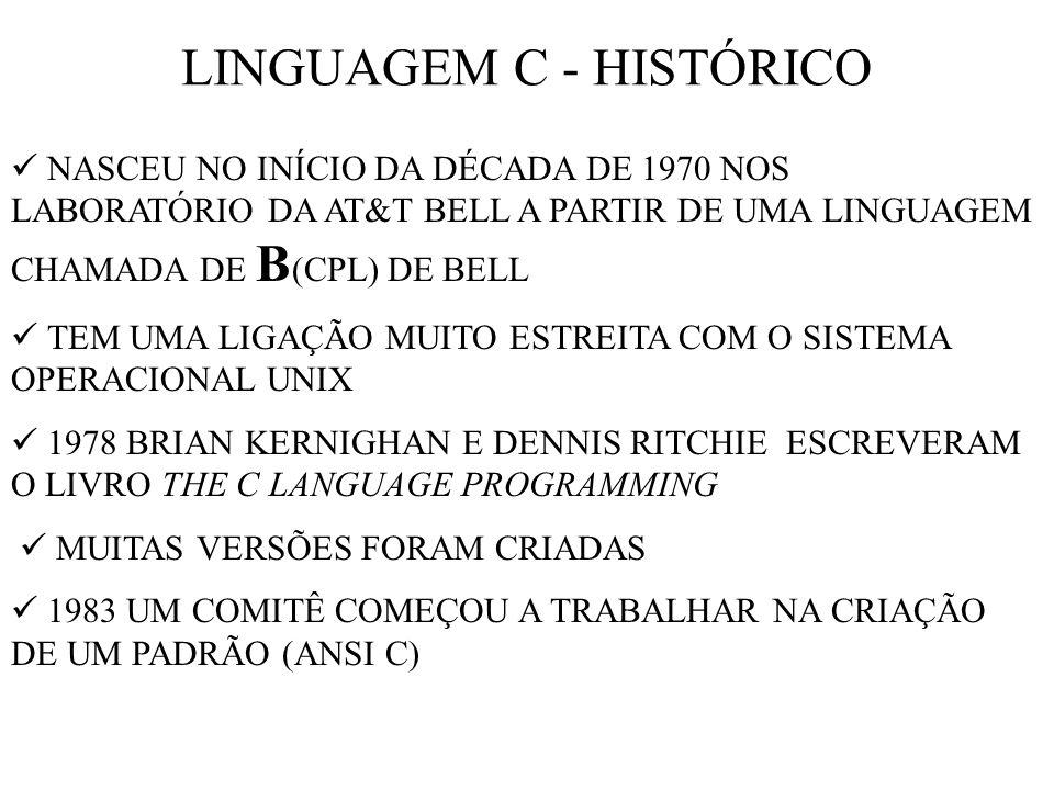 LINGUAGEM C - HISTÓRICO