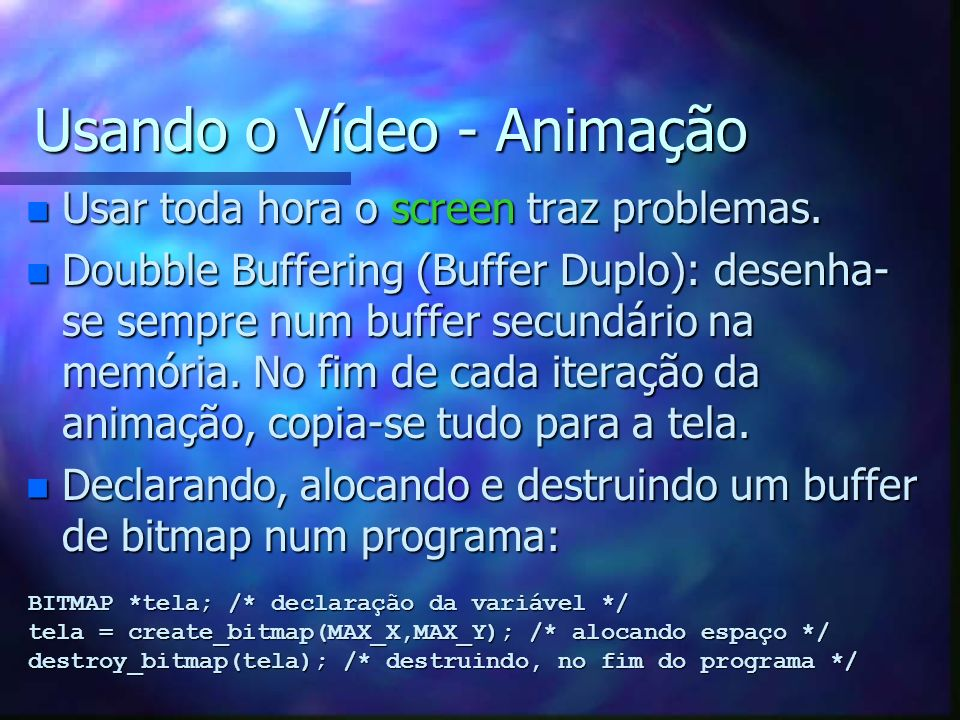 Usando o Vídeo - Animação