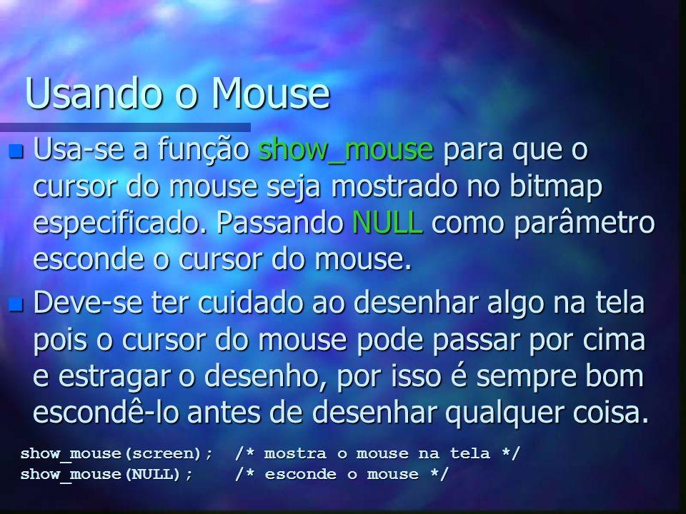 Usando o Mouse