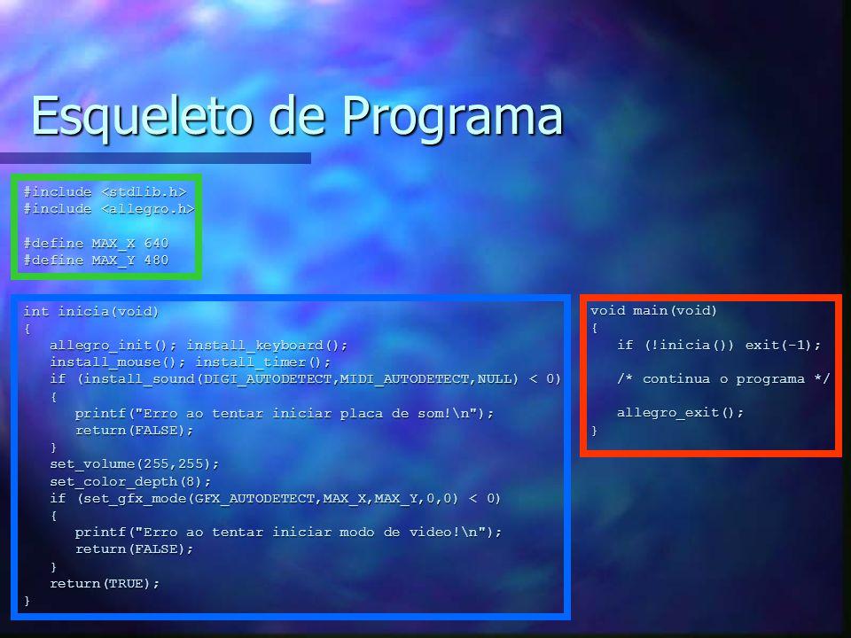 Esqueleto de Programa #include <stdlib.h>