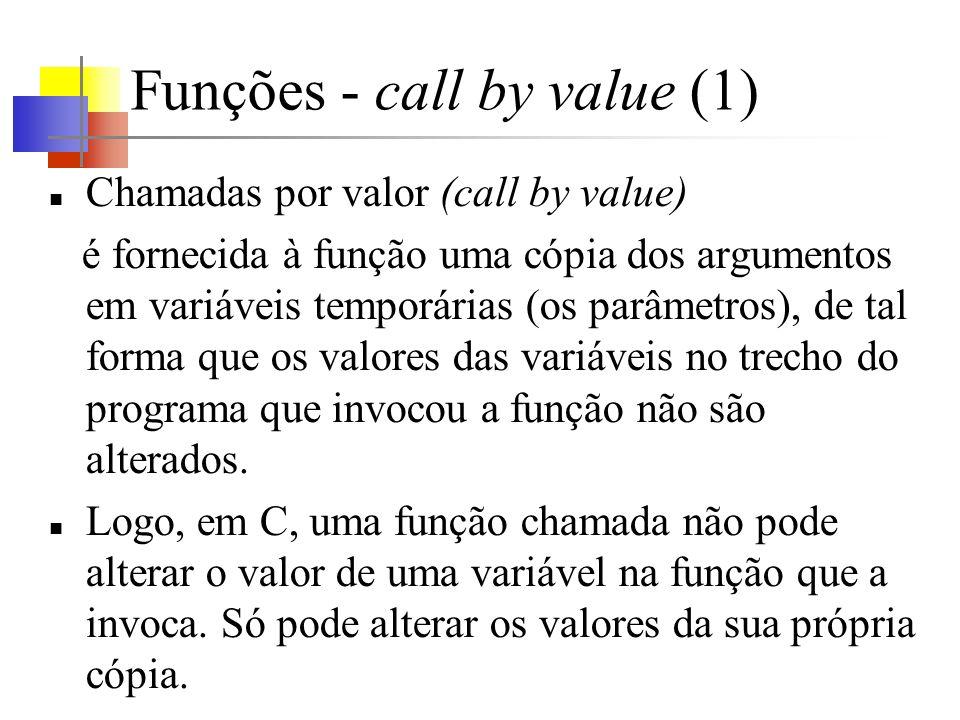 Funções - call by value (1)