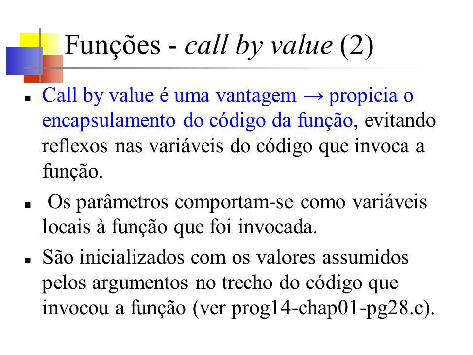 Funções - call by value (2)