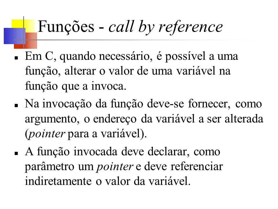 Funções - call by reference