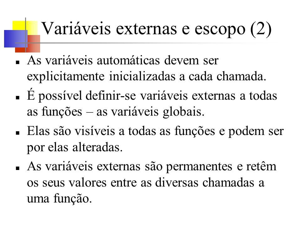 Variáveis externas e escopo (2)
