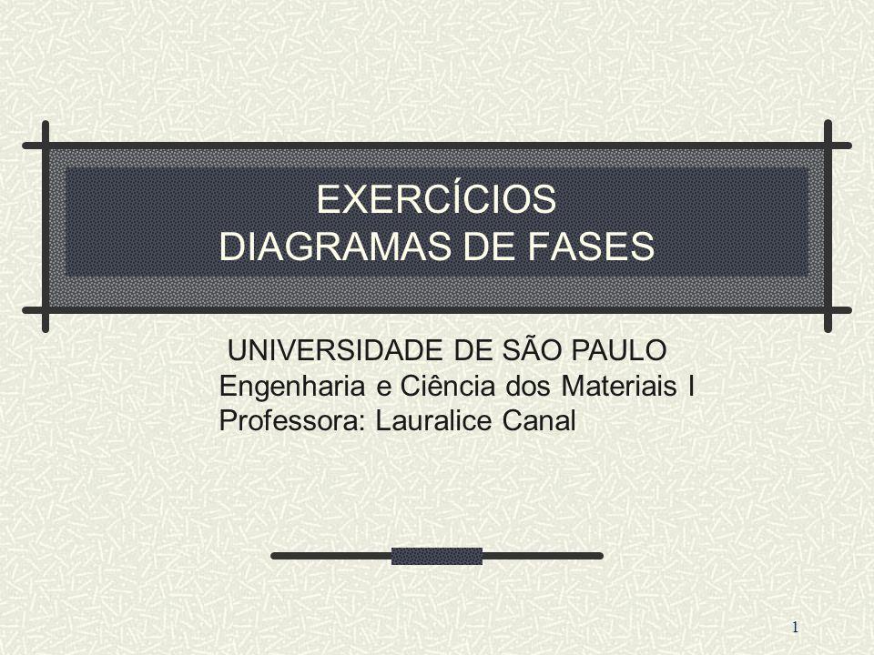 EXERCÍCIOS DIAGRAMAS DE FASES