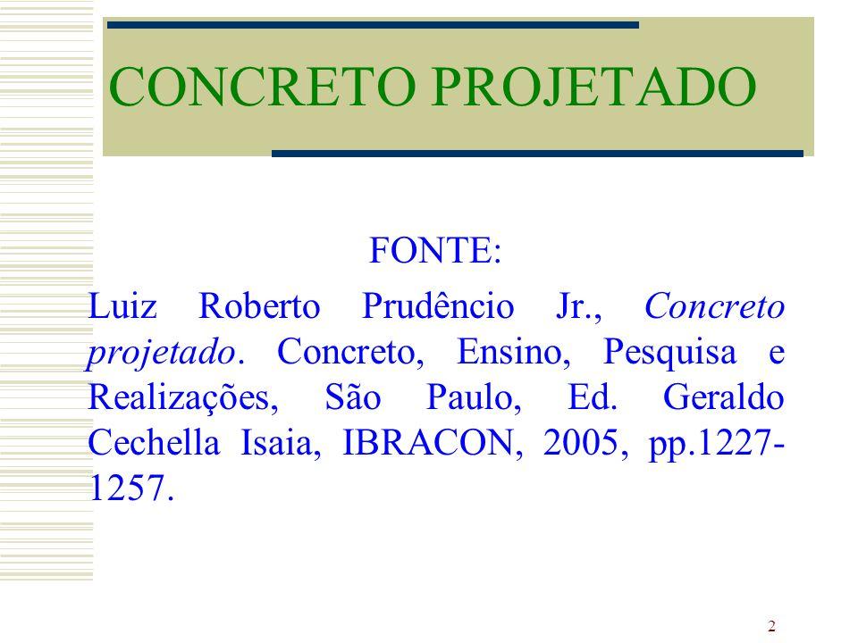 CONCRETO PROJETADO FONTE:
