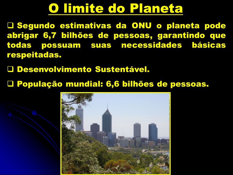 O limite do Planeta